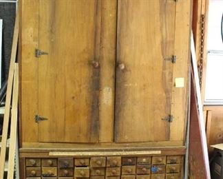 Antique Carpenter's Cabinet --Online Auction maybe available at the sale