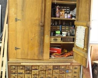 Antique Carpenter's Cabinet -Online Auction maybe available at the sale