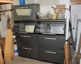 Metal Cabinets with bins