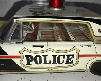 Police Tin Friction Car $75.00