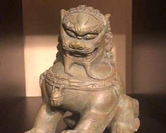 """Ming Dynasty heavy statue approx 12"""" tall"""