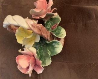 Porcelain Capodimonte Flower Arrangement Made in Italy- $75