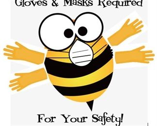 mandatory masks for your safety -- Holly makes them if you're caught short