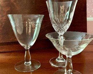 Stunning collection of crystal stemware