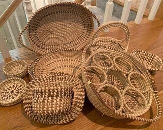 LARGE collection of vintage Charleston Gullah Baskets