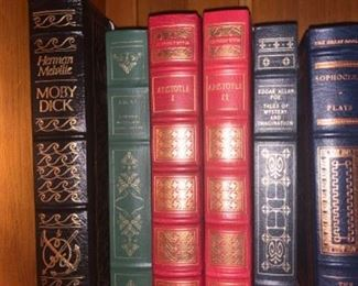 Large collection of leather bound classics! Hard to find series and other treasures