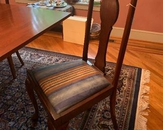 Set of 4 Queen Anne Chairs from the 1800's