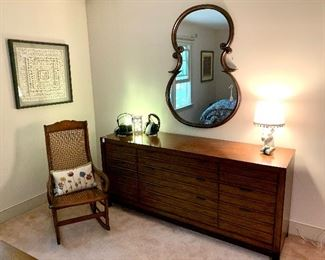 "Lexington Furniture Co. ""Oceania"" Dresser - MSRP: $1,980...Uttermost super cool Mirror. Woven hand made paper art !"