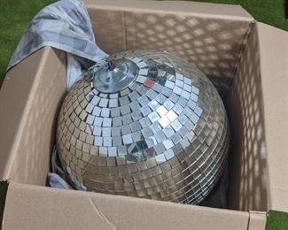 HUGE disco ball