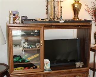 Entertainment center, flatscreen tv