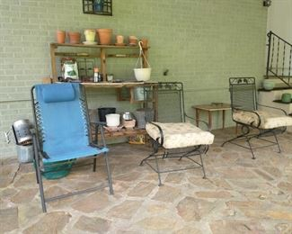 Metal patio chairs