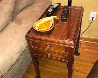vintage table and retro ashtray