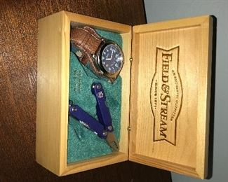 watch and knife set