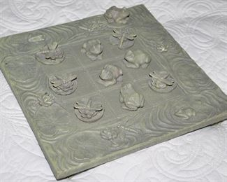 Garden Lily Pad and Frog Tic Tac Toe Game