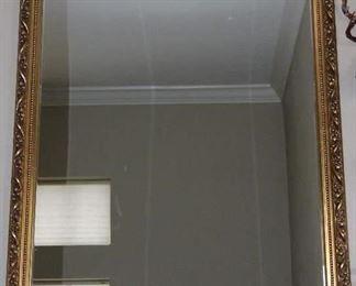 """Gold Leaf Framed Wall Mirror (27.5"""" x 39"""")"""