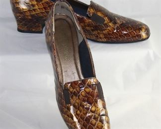 Magdesian California USA Faux Snake Print Shoes