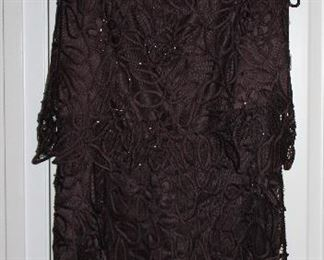 Silken Poetry Brown Lace 2 Piece Maxi Skirt and Blouse