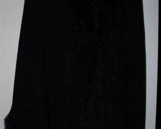 Noelle Black Knit Shawl