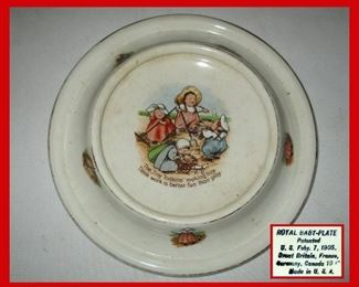 Antique Royal Baby Plate