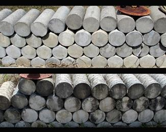 Cement Cylinders; Great for All Sorts of Landscaping Ideas