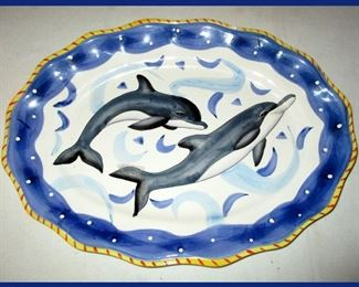 Large Pretty Porpoise Platter