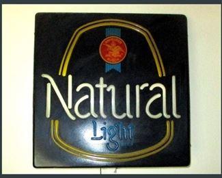 Natural Lite Beer Sign