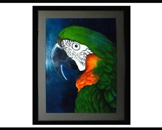 Large Framed Acrylic Painting by Daniele Jones, the Artist for Petable Portraits