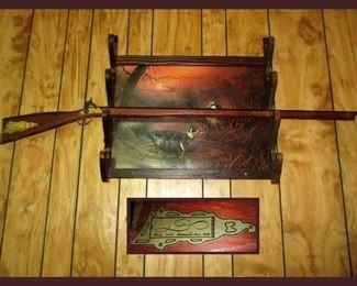 Parris Toy or Replica Gun Savannah Tennessee and Gun Rack with Ducks