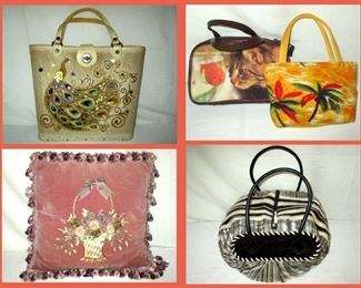 Sample of the Handbags and Pillows Available