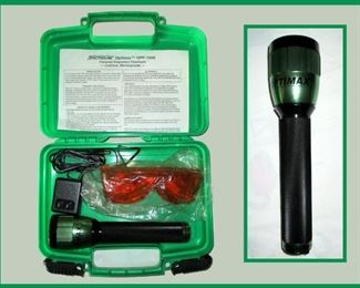 Spectroline Optimax OPF 1000 Forensic Inspection Flashlight Complete and Like New