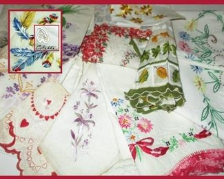 Vintage Hankies and Pillow Cases
