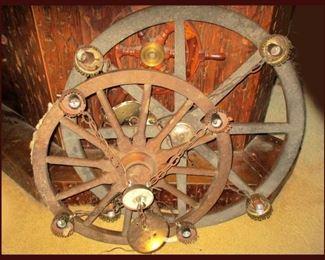Wagon Wheel Lamps