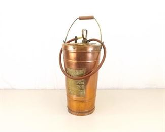 Antique Lofstrand Copper and Brass Hand Pump Fire Extinguisher