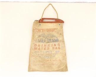 Antique Eagle Brand Canvas Automobile Water Bag