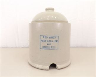 """MINT Vintage Red Wing 12.5"""" Poultry Drinking and Buttermilk Feeder"""