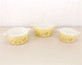 Lot of Pyrex Shenandoah #473, #474 and #475 Casseroles and Lids