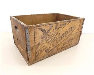 Antique Hamm's Brewing Wood Beer Crate