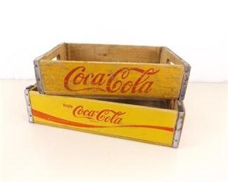 2 Vintage Coca-Cola Wood Coke Crates