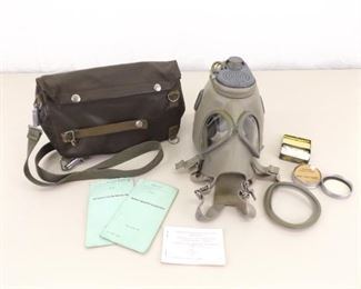 Vintage Gas Mask In Pouch