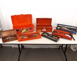 Large Lot of Misc Hand Tools and Tool Boxes