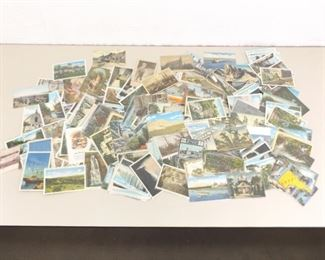 250+ Antique and Vintage Postcards in Protective Plastic Sleeves