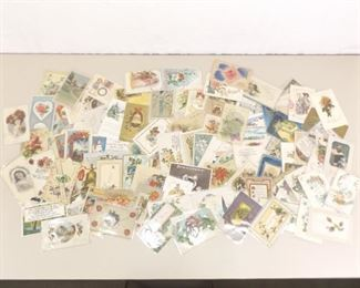 100+ Antique and Vintage Holiday, Greeting, Wishes, etc. Postcards in Protective Plastic Sleeves