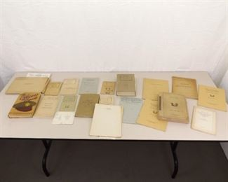Lot of 1930's and 1940's Military Officers Training Manuals