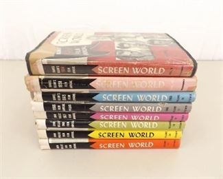Lot of 8 Vintage Screen World Books