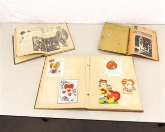 Lot of Antique Scrapbooks