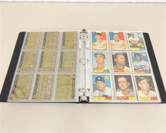195 - 1961 Topps Baseball Cards In Binder
