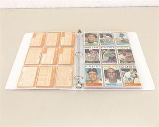 105 - 1964 Topps Baseball Cards In Binder