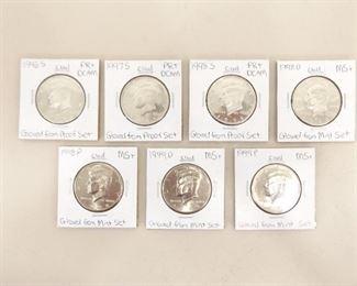 Lot of 7 High Grade U.S. Mint Kennedy Half Dollars