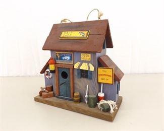 VERY Well Done Wood Folk Art Bait Store Bird House