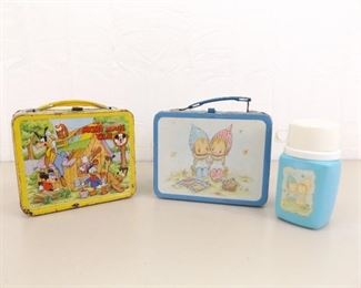 2 Vintage Metal Lunch Boxes
